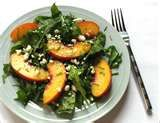 A delicious peach salad and dressing recipe from Chef Ben Kirk of Avo and Dram. | Pepper Place Market