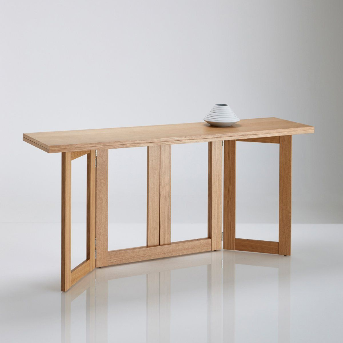 Table console personnes dimensions de la table console for Tablette de cuisine rabattable