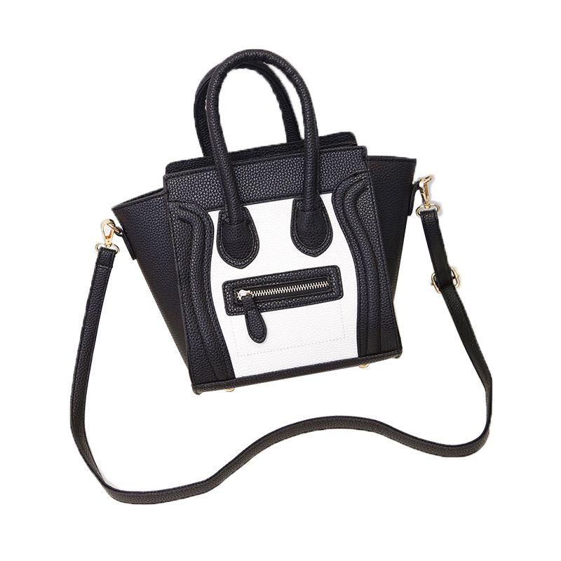 8aef68d5895 Goedkope Kleine Smiley Beroemde Designer Merk Tassen Vrouwen Lederen  Handtassen Sac celing tas Voor Meisje Bolsas