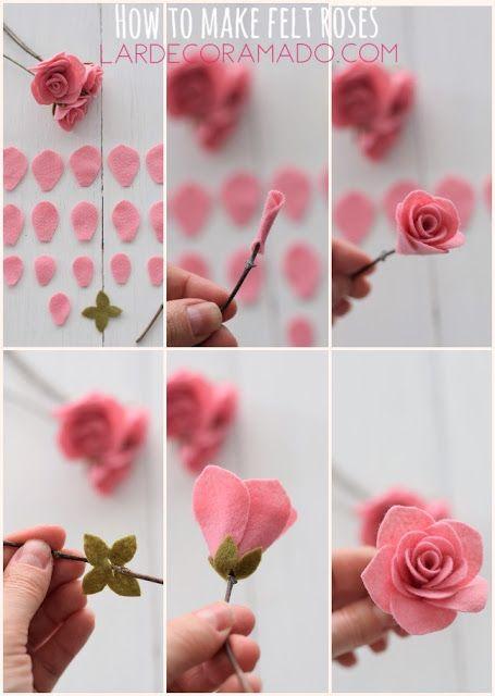 Lardecoramado diy pinterest felt roses felting and rose mightylinksfo