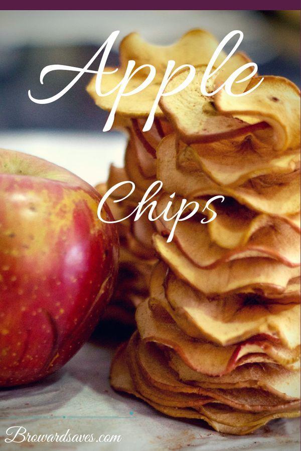 Homemade Crunchy Apple Chips Recipe – No Dehydrator Needed! #applerecipes