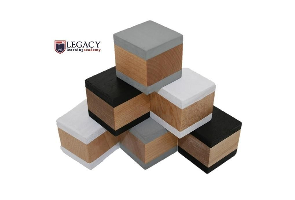 Wooden Building Blocks Monochrome Set Of 6 Products