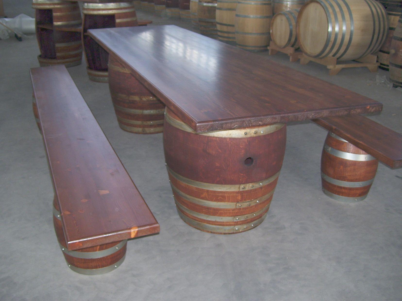 Tavolo botte ~ Tavolo da botti per birreria da metri con panchine beer