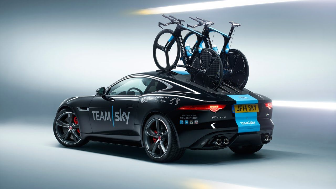 Jaguar Present Team Sky With Concept F Type Time Trial Support Car