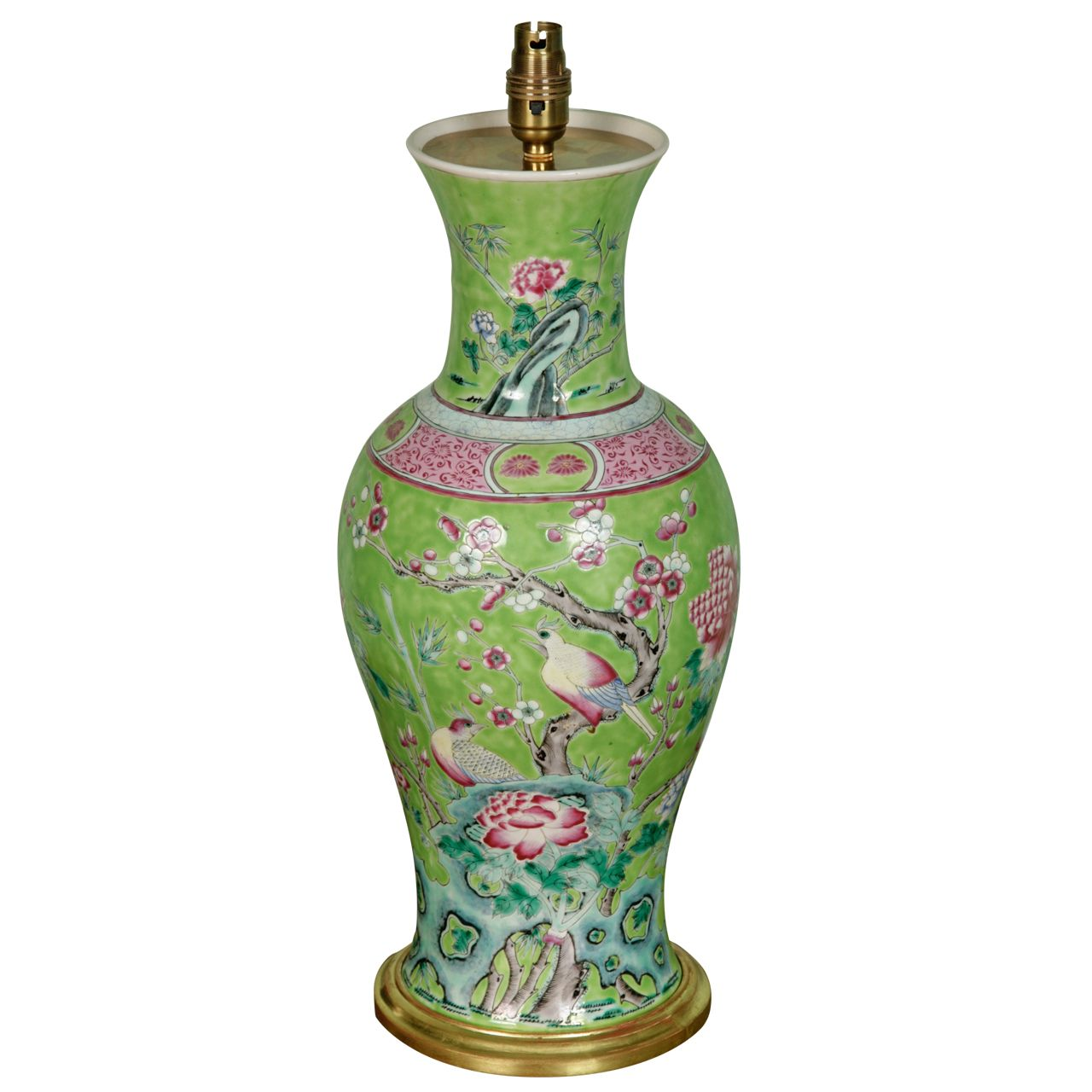 Large lamped chinese porcelain vase porcelain chinoiserie and large lamped chinese porcelain vase modern table lampsporcelain geotapseo Images