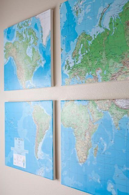 Diy Tutorial Diy Map Art Diy Wall Map Bead Cord Map Art Diy Map Canvas Diy Wall Maps