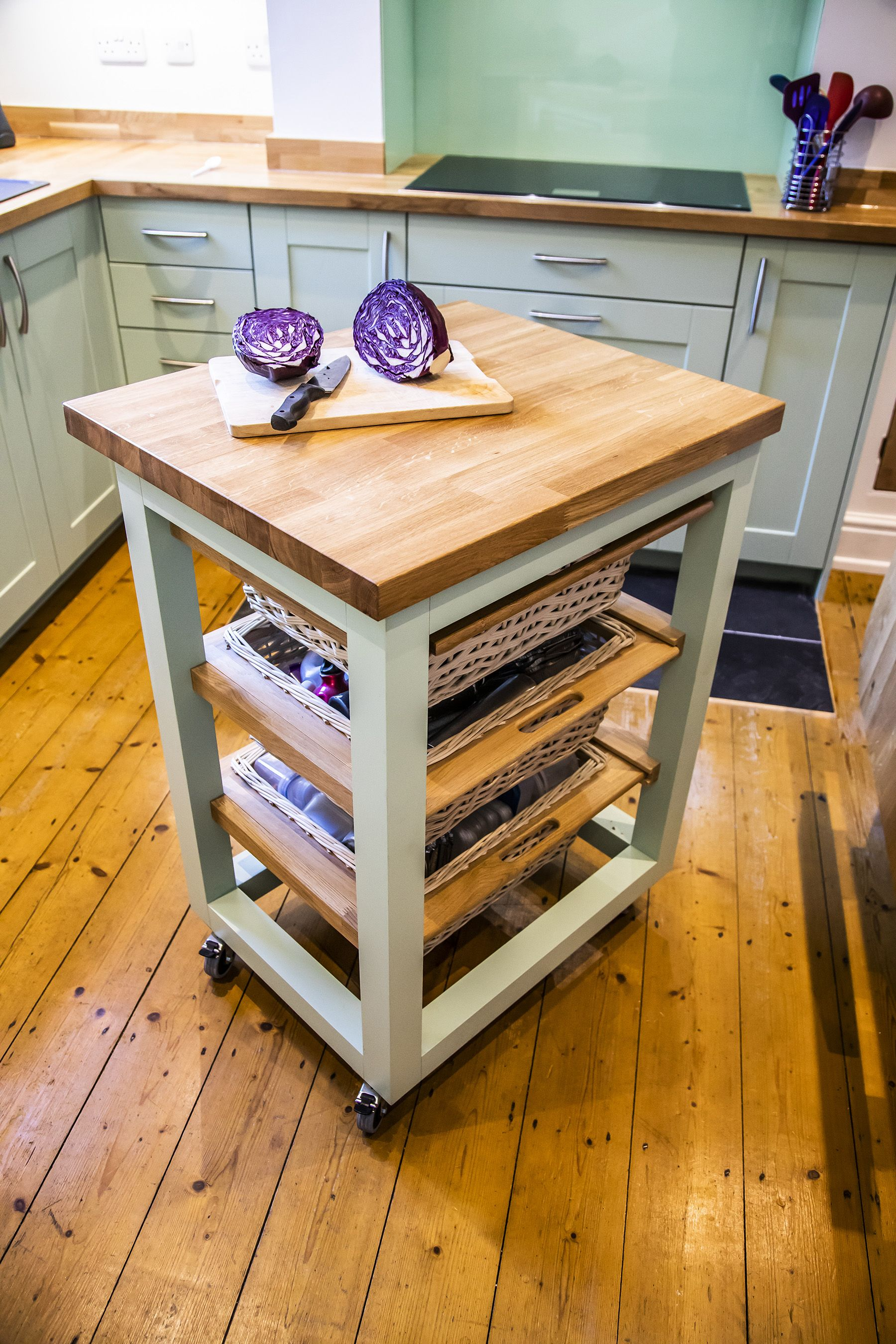 Oak and Green Small kitchen inspiration, Compact kitchen