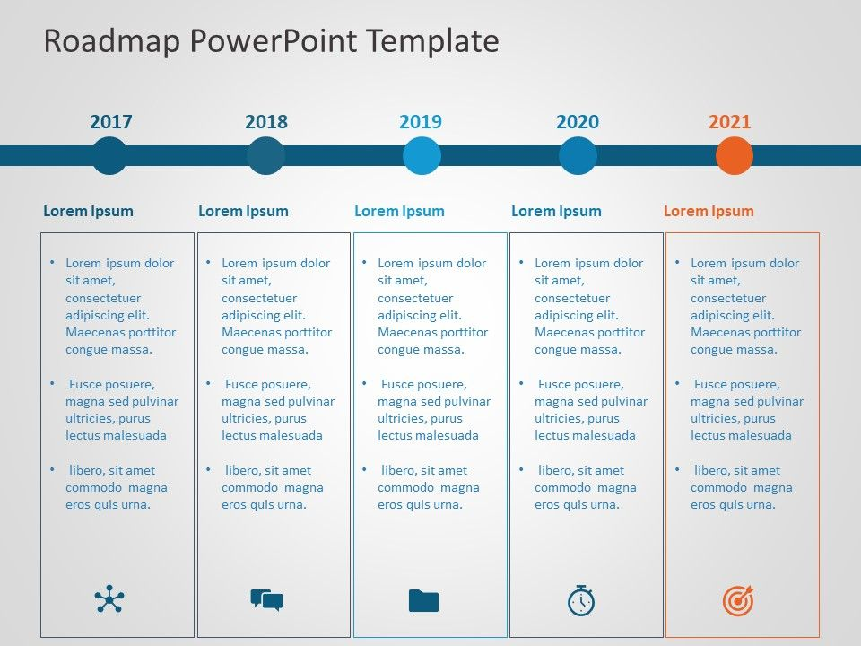 Use Business RoadMap PowerPoint Template to showcase and