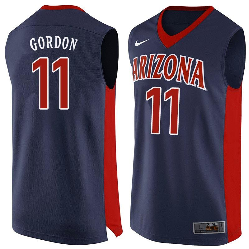 best service 01761 2b0fa Men Arizona Wildcats #11 Aaron Gordon College Basketball ...