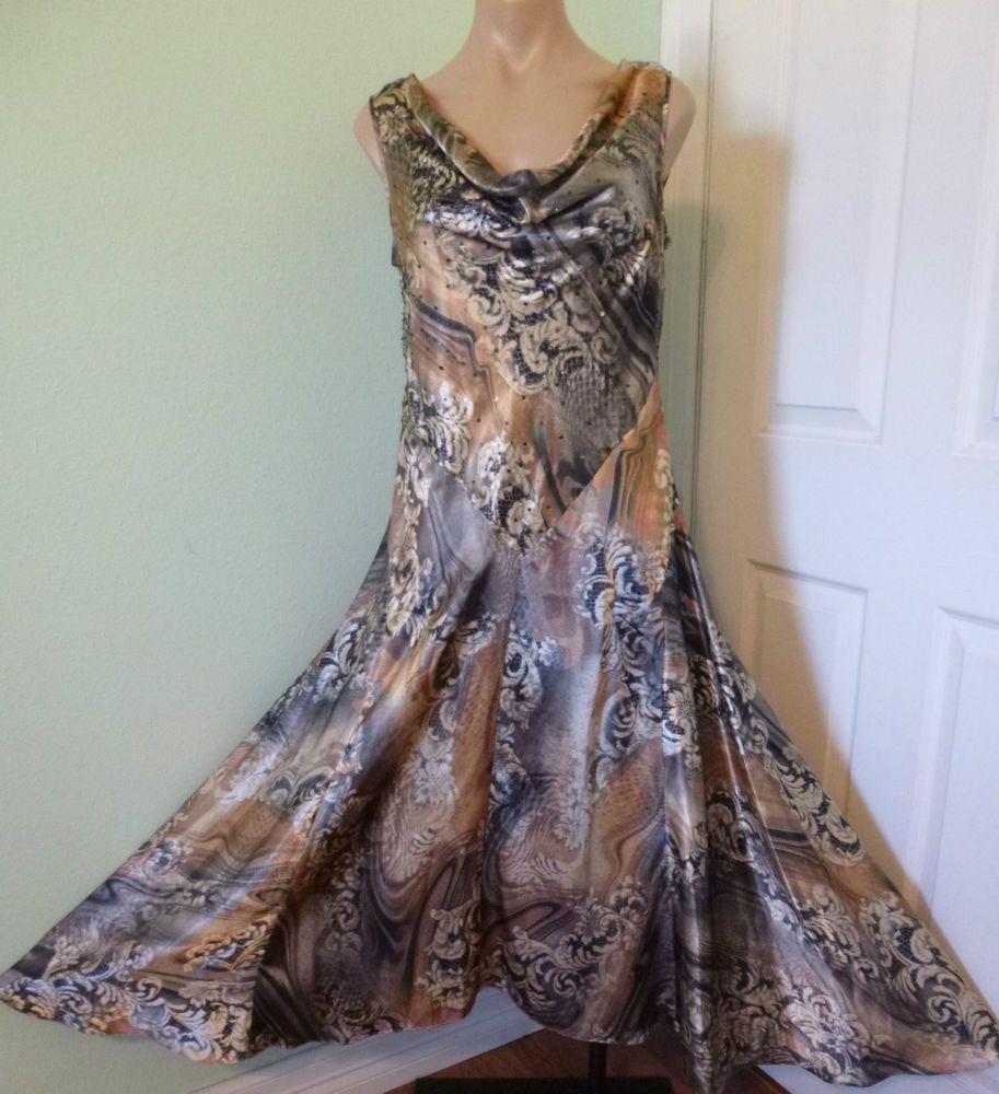 Coldwater creek asymmetrical hem long dress sz p sleeveless