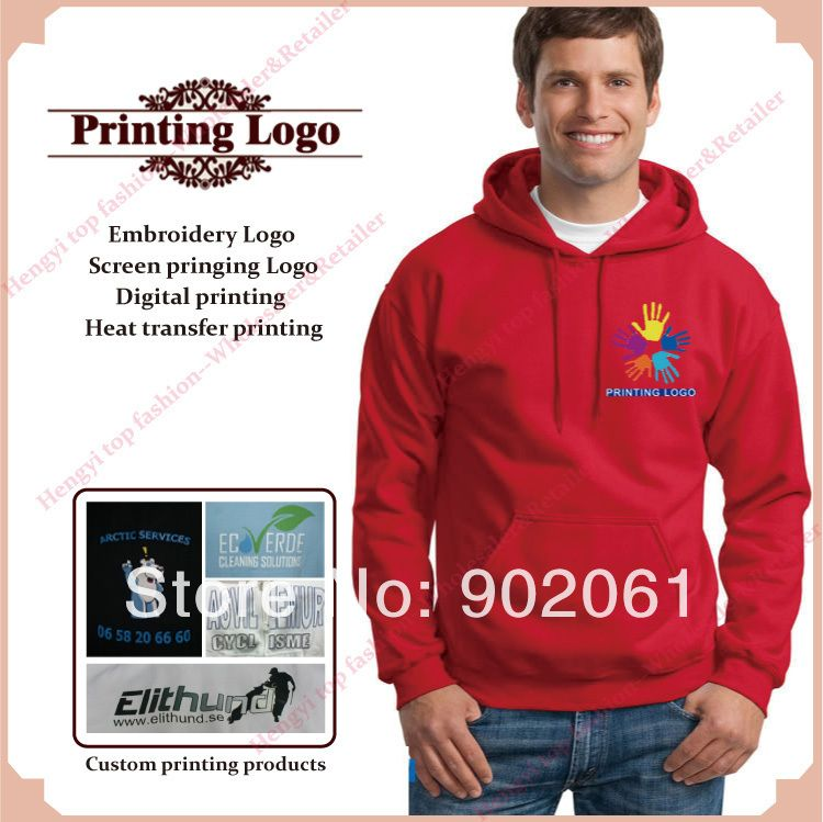 a5475980421 Customized Logo Print On Hoodie Jumper Professional Custom Hoodies Custom  Own Logo Screen Print Men's Weater Iron On Transfer
