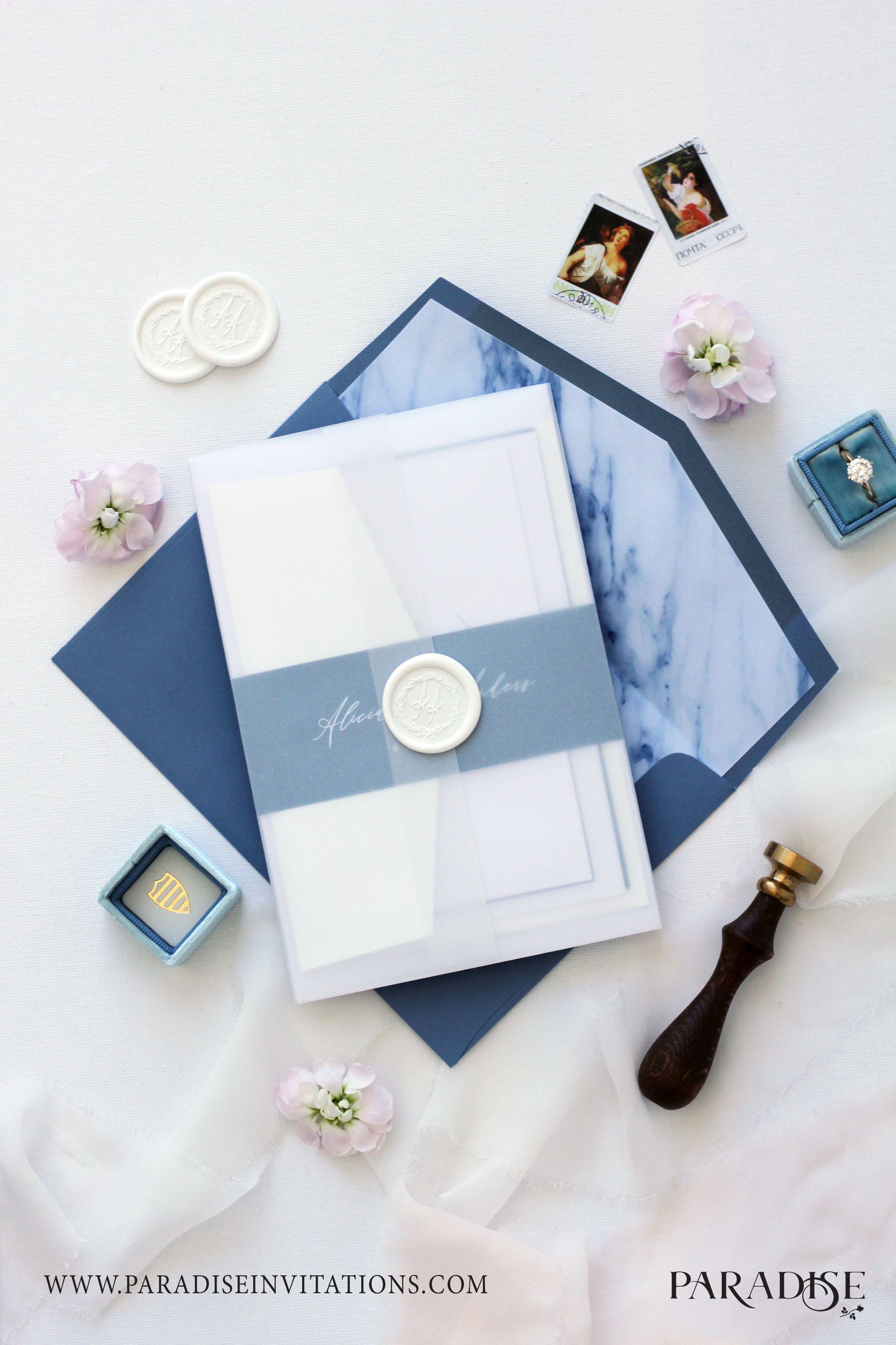 Dusty Blue Marble Texture Wedding Invitation Wedding Invitation Weddinginvitatio Wedding Invitation Sets Wedding Invitations Free Wedding Invitation Samples