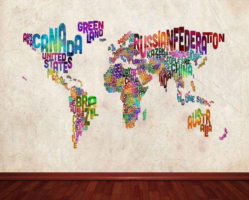Pin it to win it enter here httponfbpzvjcf art trademark art homemichael tompsett typography world map ii canvas art home decor trademark art wall decor home gumiabroncs Choice Image