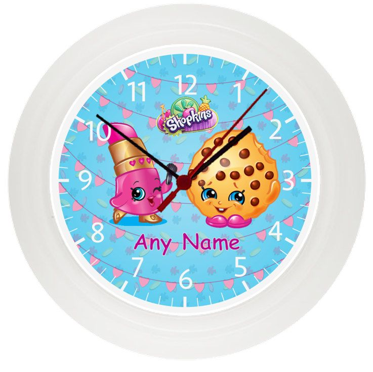 Personalised SHOPKINS wall clock* Childrens Bedroom* Gift* Girls by ...