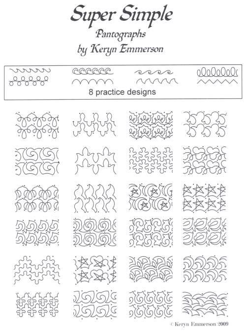 Super Simple Pantograph Pattern Pack 24 Paper Patterns