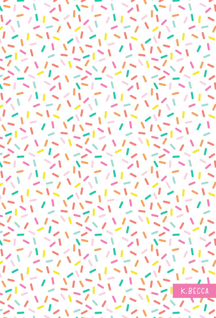 Confetti Sprinkles Vector Pattern Scrapbook Printables Free