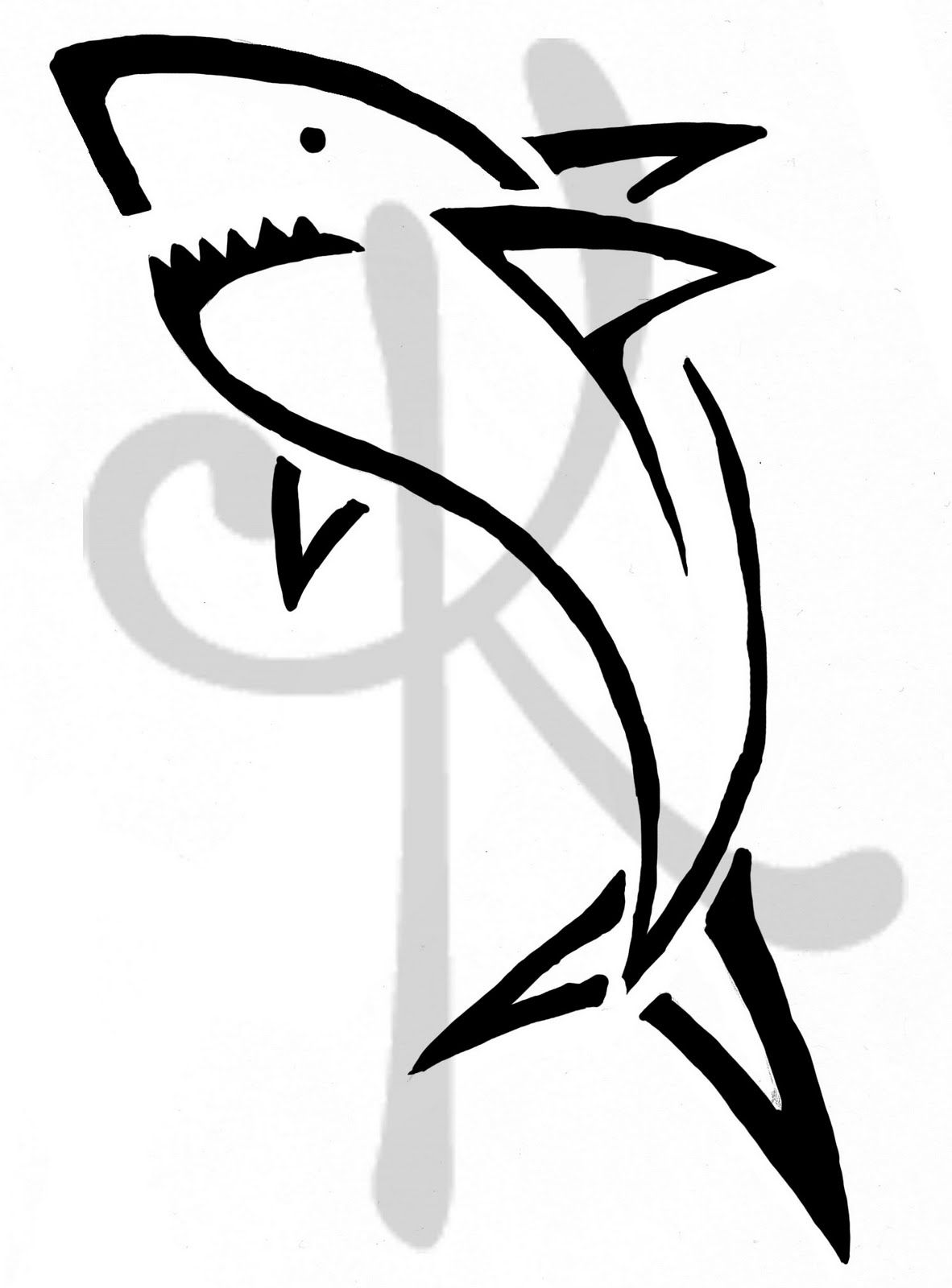 Simple Shark Tattoo Fowlger And Some Tattoos Simple Shark