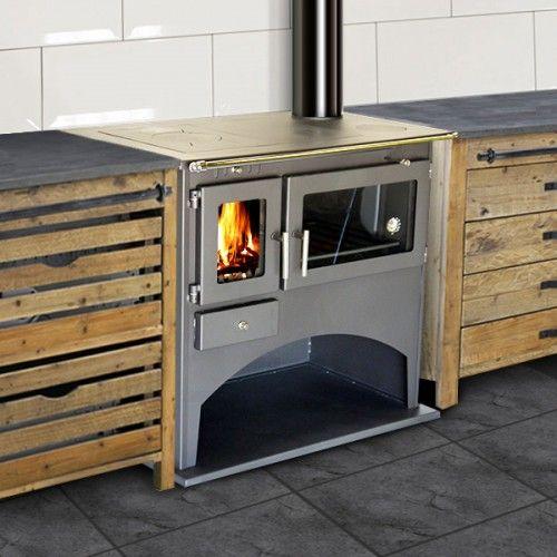 Cuisinière à Bois Cheminées Poêles Pinterest Cuisinière - Achat cuisiniere gaz pour idees de deco de cuisine