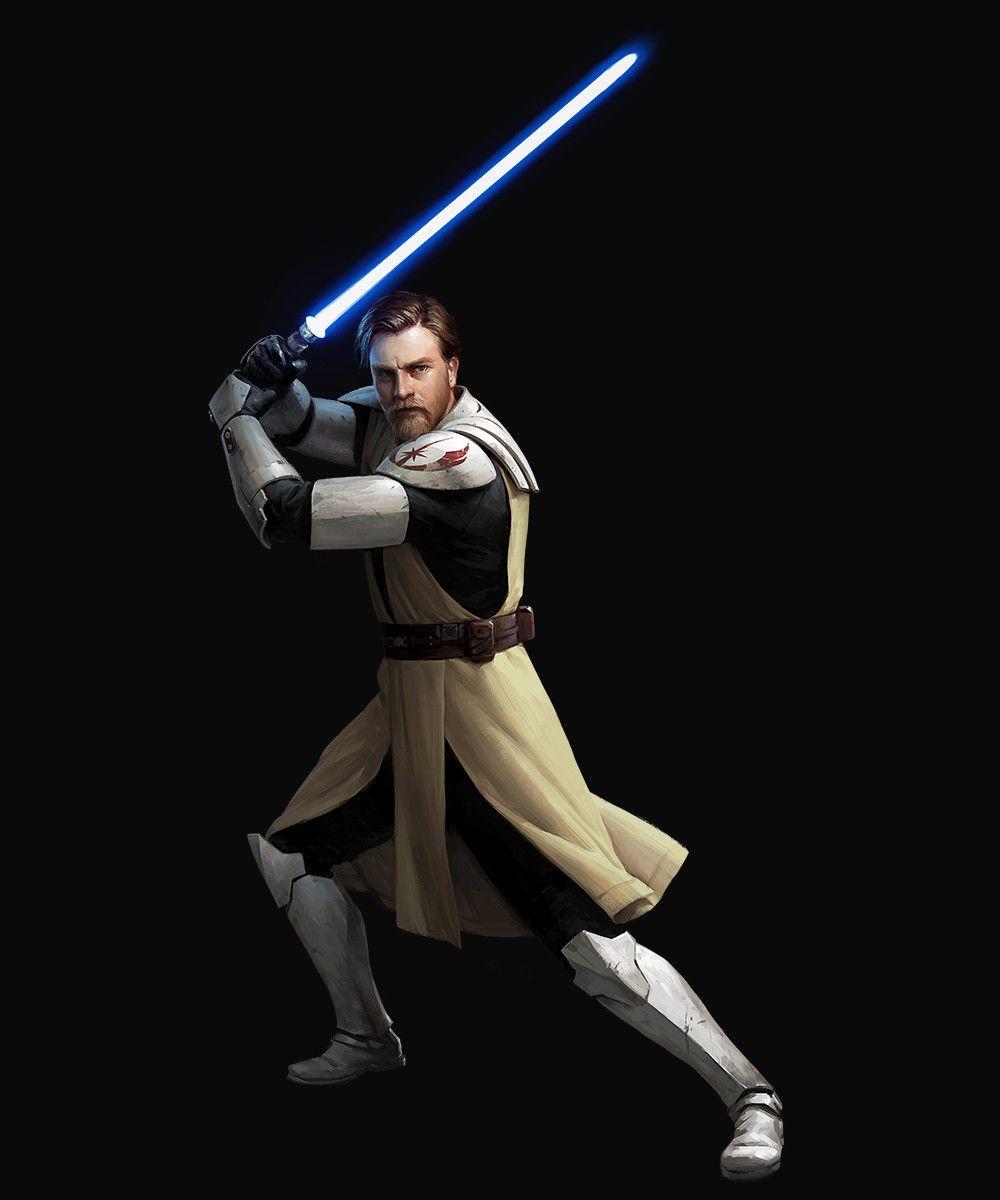 Artstation Sw Destiny General Obi Wan Kenobi Chewbacca