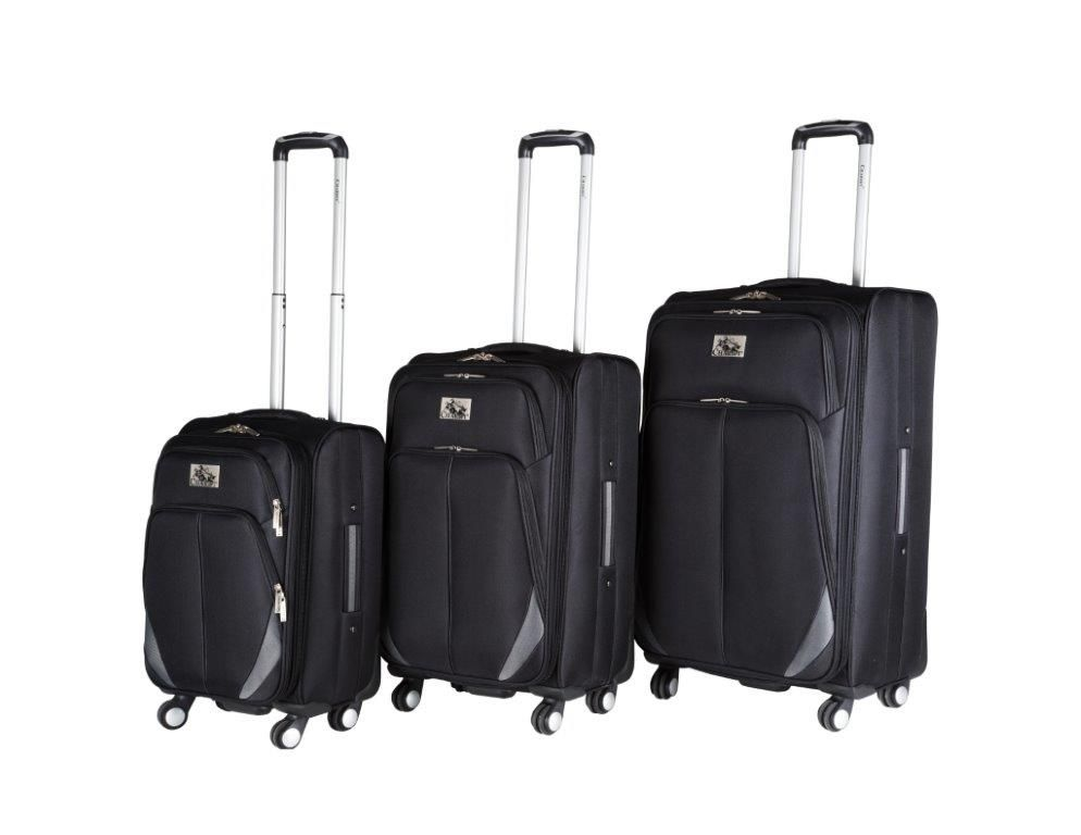3 PC. set luggage. CH-209 in Black.  #TravelinStyle #ChariotTravelware