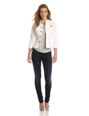 G-Star Women's Mc 5620 Denim Jacket White Talc Superstretch, Light ...