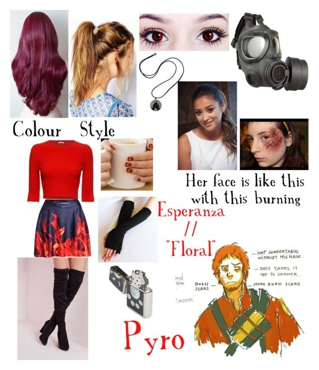 """""""Pyro's and Esperanza's faces revealed"""" by nebulaprime on Polyvore featuring beauty, Deepa Gurnani, A.L.C., GAS Jeans and Zippo"""