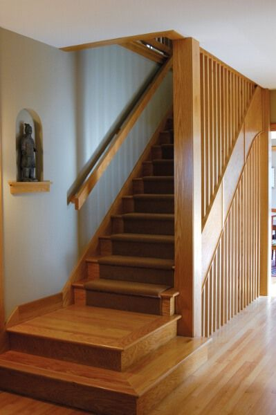 Best Mission Style Stair Railing Attic Rooms Attic 400 x 300