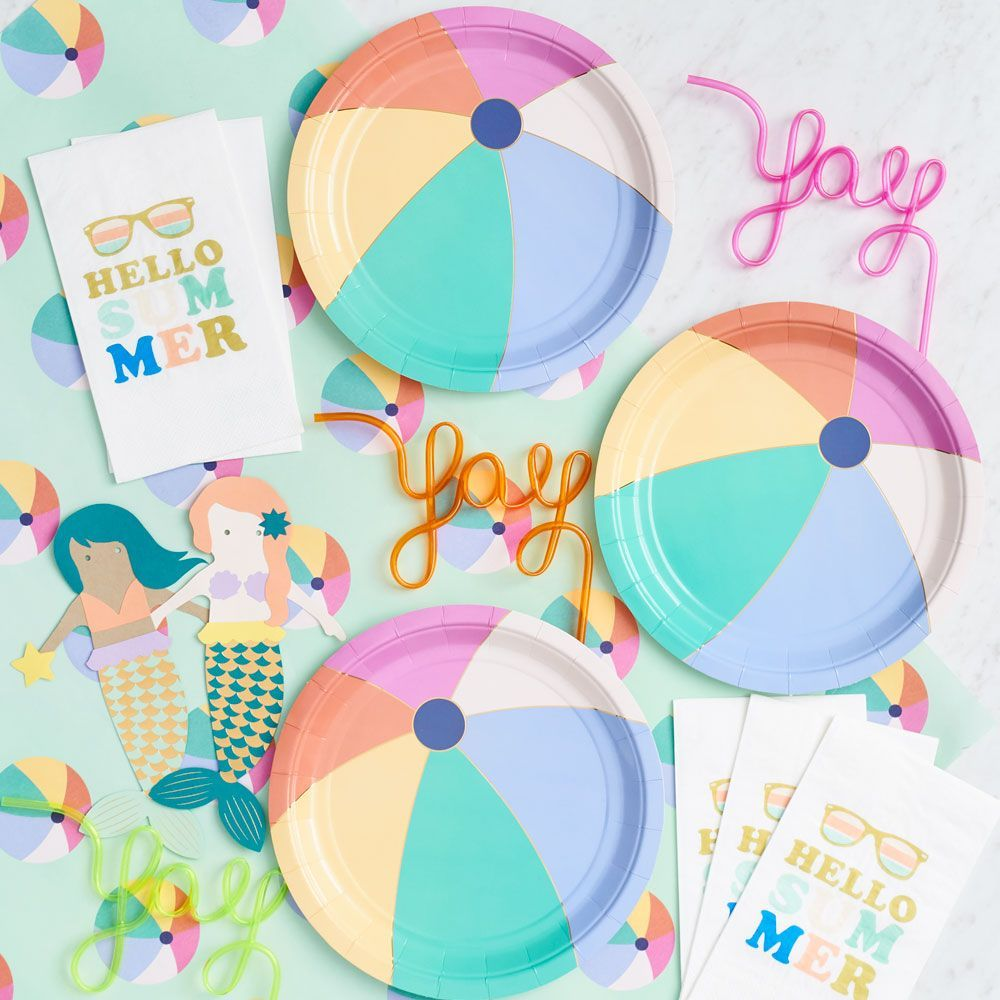 Beach Ball Plates Party Paper Source Party Tableware