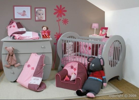 Déco chambre grise et rose | Chambre bébé fille | Pinterest | Deco ...