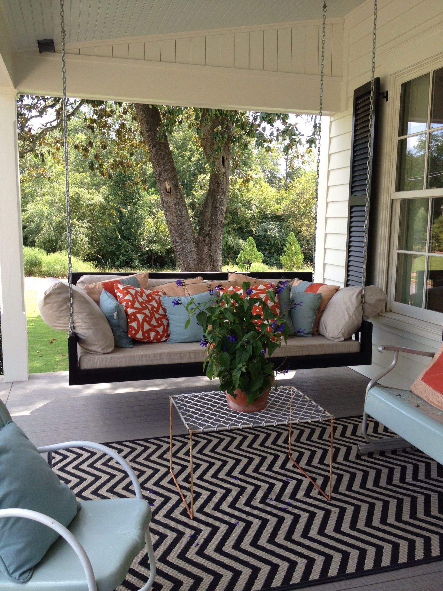 Southern Living Home in Senoia, GA. Front porch design