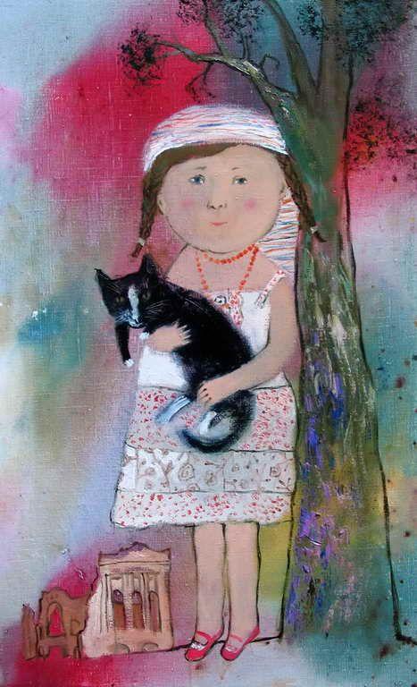 """""""Mashenka"""" 2008г. 65х40. oil canvas"""