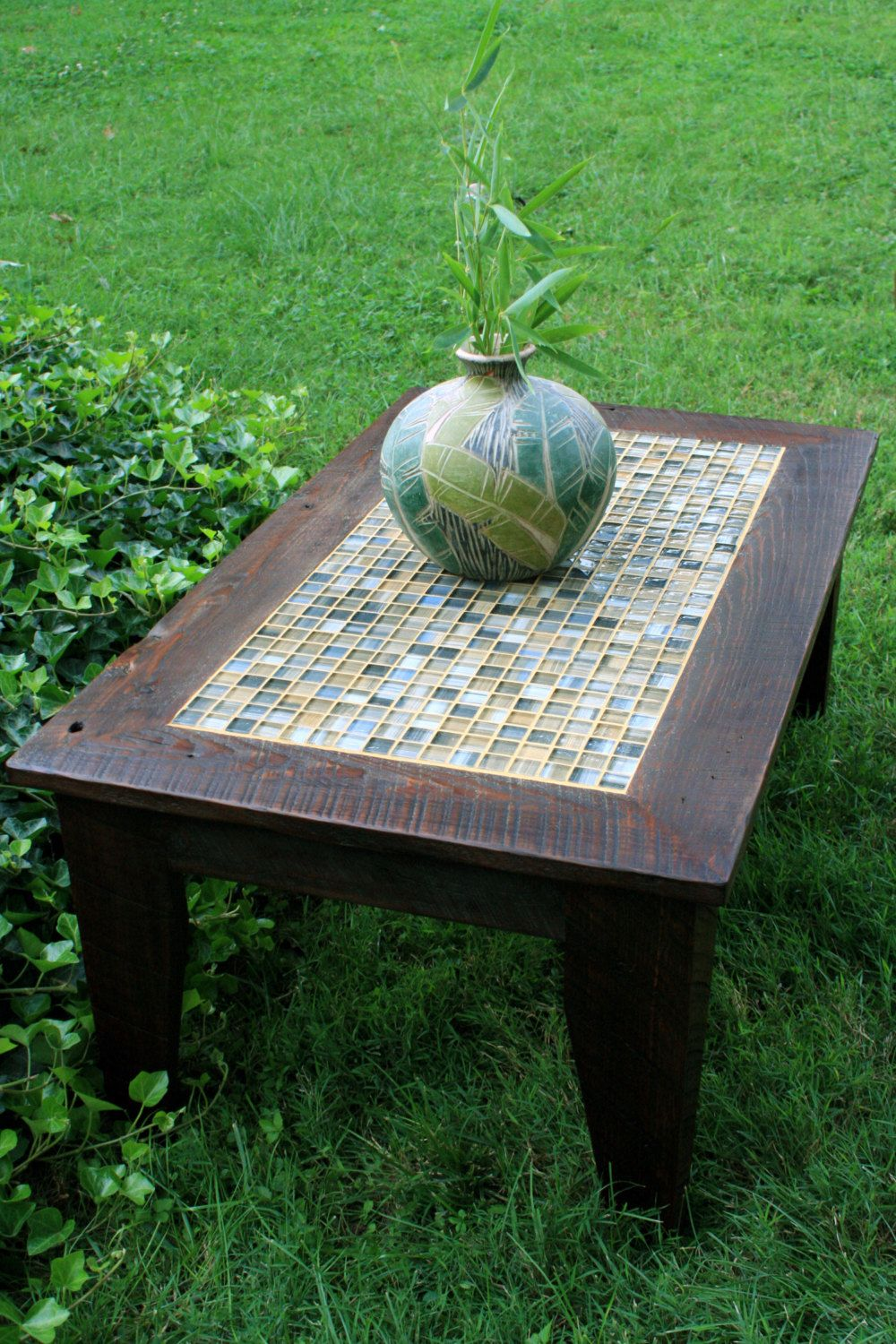 Coffee Table Mosaic Tile Coffee Table Rustic Coffee Table Neutral