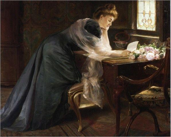 the-love-letter-Ferdinand-Georges-Lemmers