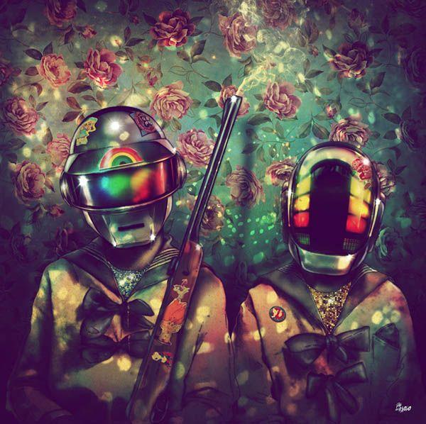 retratos daft punk Fab Ciraolo Daft Punk Deux, exposición de retratos bizarros de 40 artistas