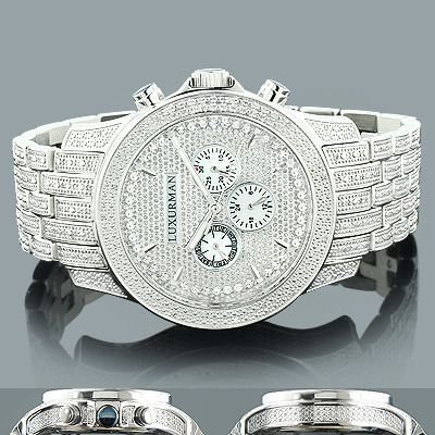 Affordable Iced Out Watches! This Luxurman Mens Diamond