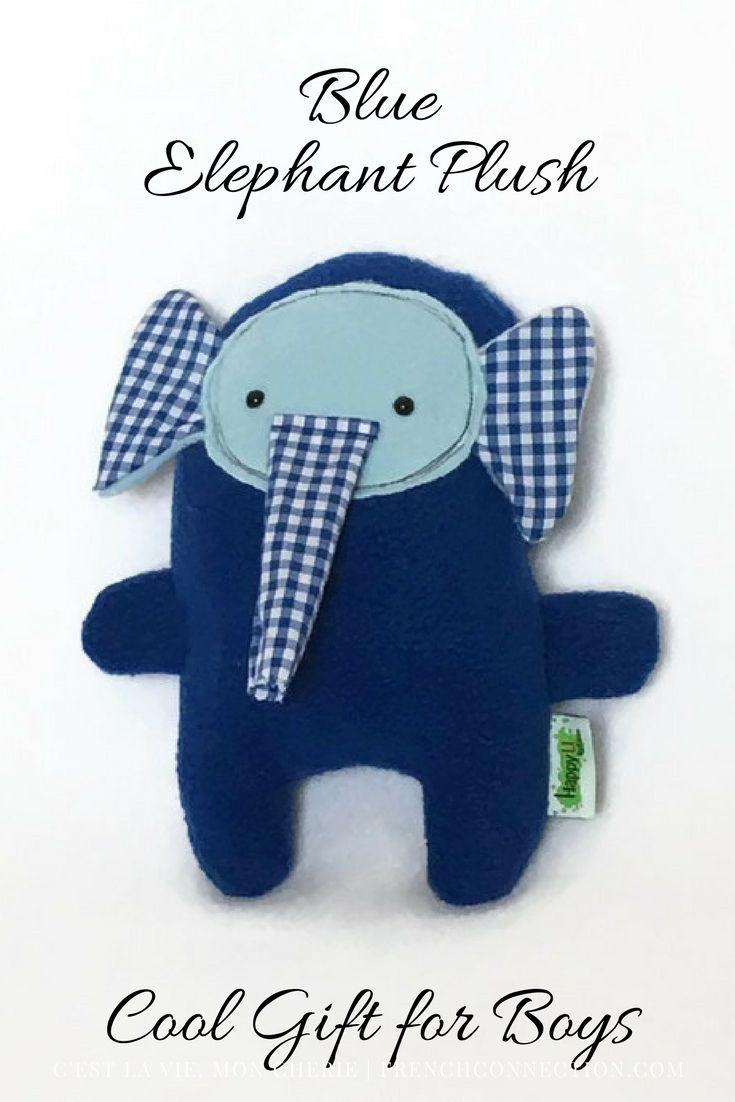 Blue Stuffed Elephant Blue Plush Elephant Elephant Stuffed Animal Plush Toy Baby Shower Gift Gif Birthday Gifts For Boys Gifts For Kids Newborn Photo Bows