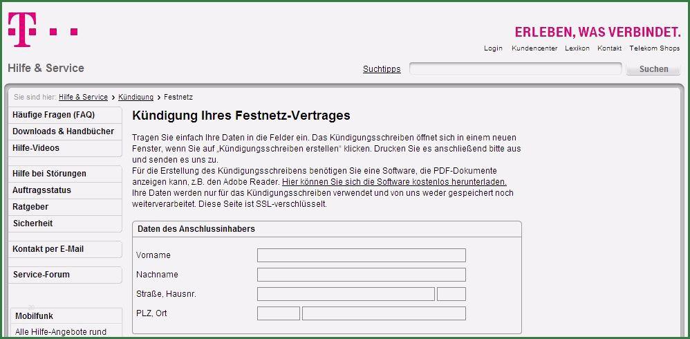 Telekom Online Kundigen Geprufte Vorlage 7