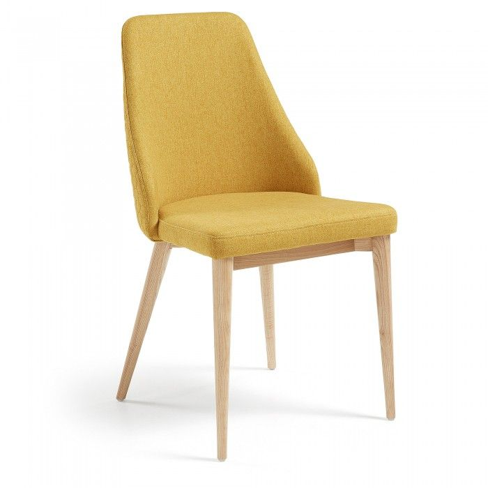 Chaise Rosie Moutarde Kave Home Chaises Rembourrees Chaise De Salle A Manger Chaise