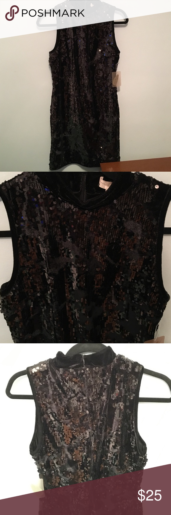 Sequined Velvet Dress NWT! New worn! Great for the holiday season. All sequins are intact Dresses Mini