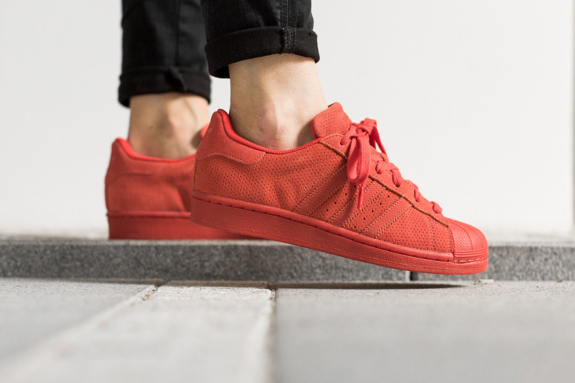online store f4ea1 e17ad ADIDAS ORIGINALS SUPERSTAR RT RED RED RED available at  www.tint-footwear.com adidas-originals-superstar-rt-s79475 adidas superstar  monochrome all red red ...