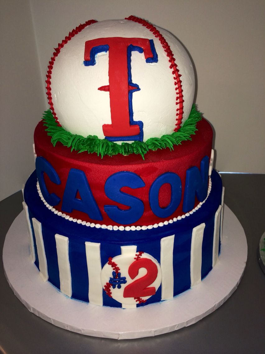 Texas Ranger Birthday Cake Tart Bakery Dallas