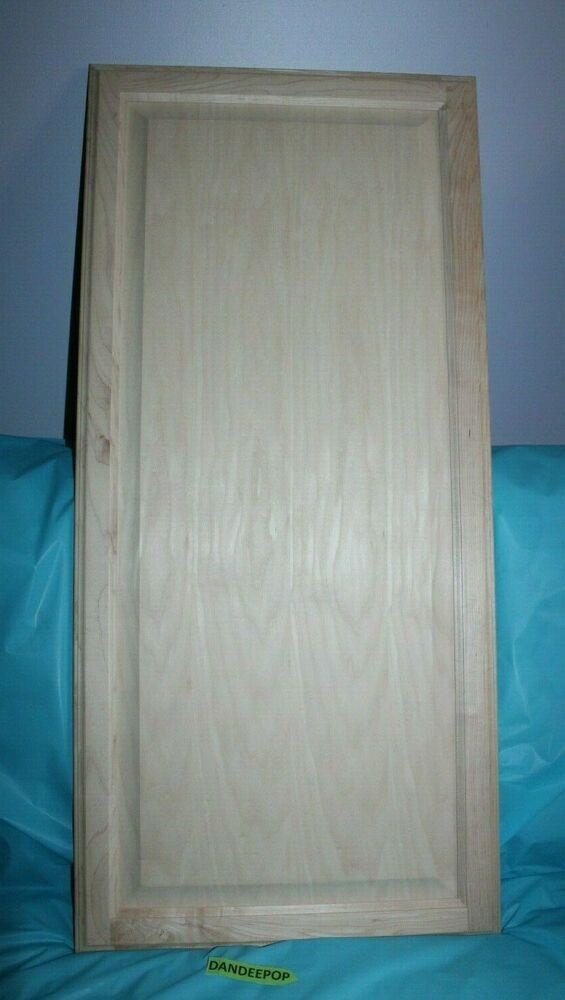set of 2 maple wood unfinished kitchen cabinet door