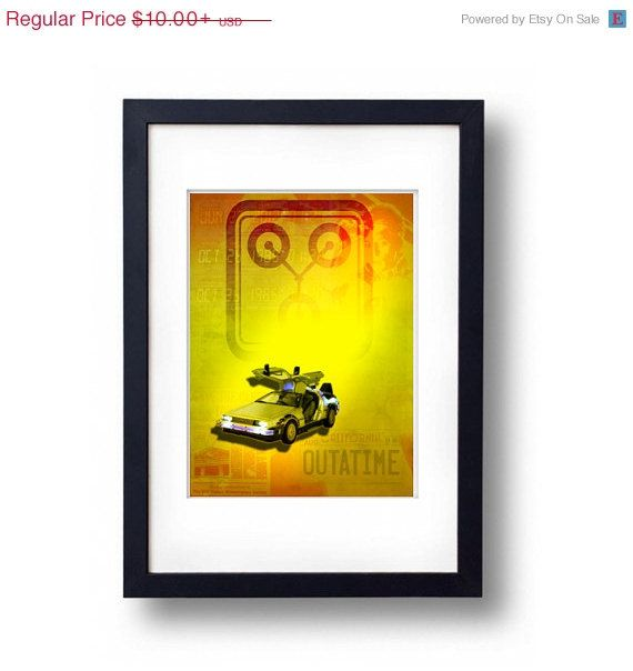 Back to the Future 25th Anniversary Print by YouAreHERECustomMaps, $2.50