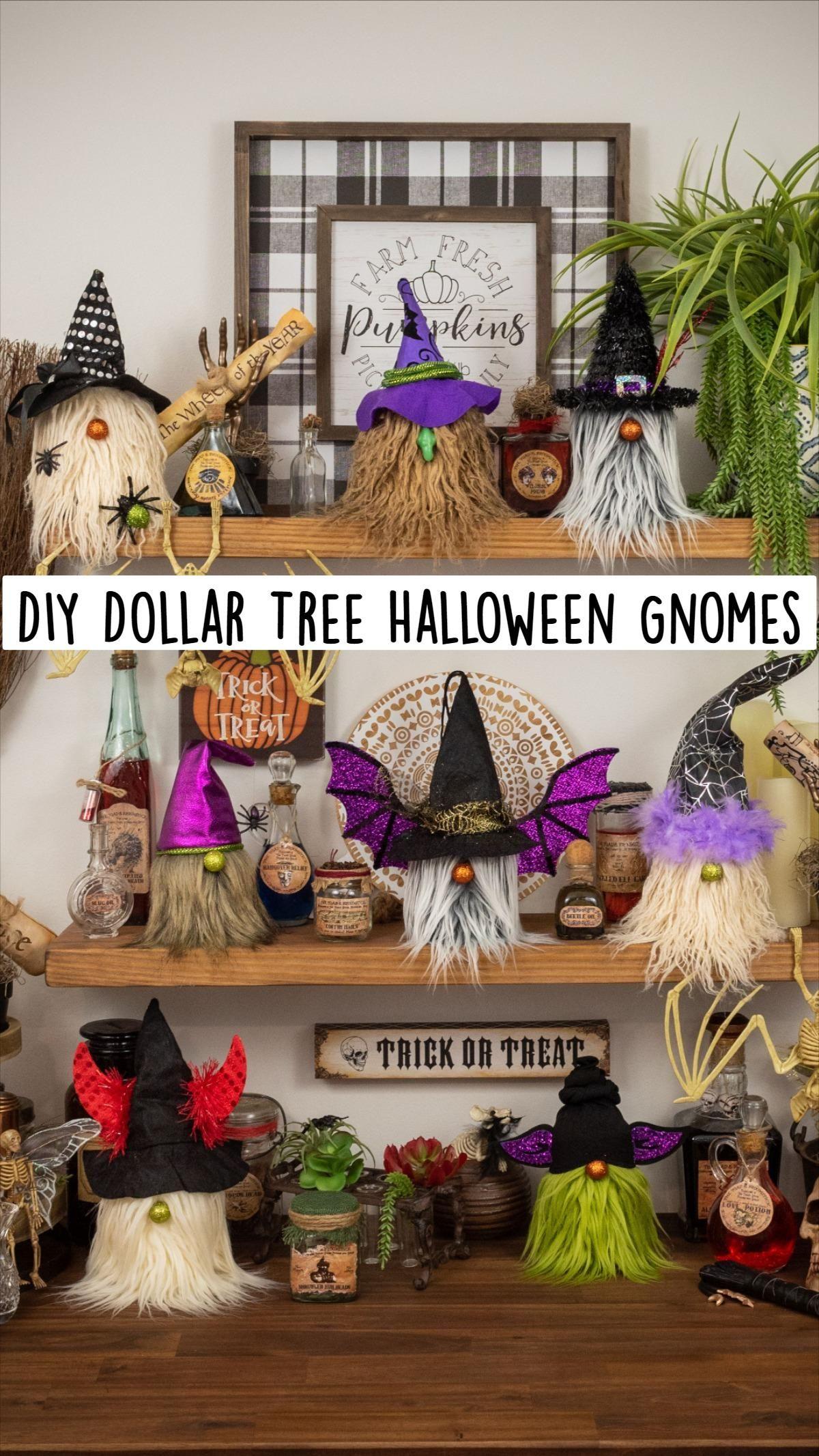 DIY Dollar Tree Halloween Gnomes