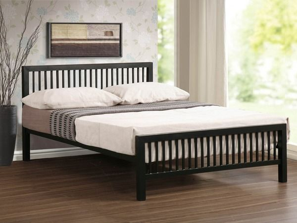 Time Living Meridian King Size Black Metal Bed Frame Metal Beds