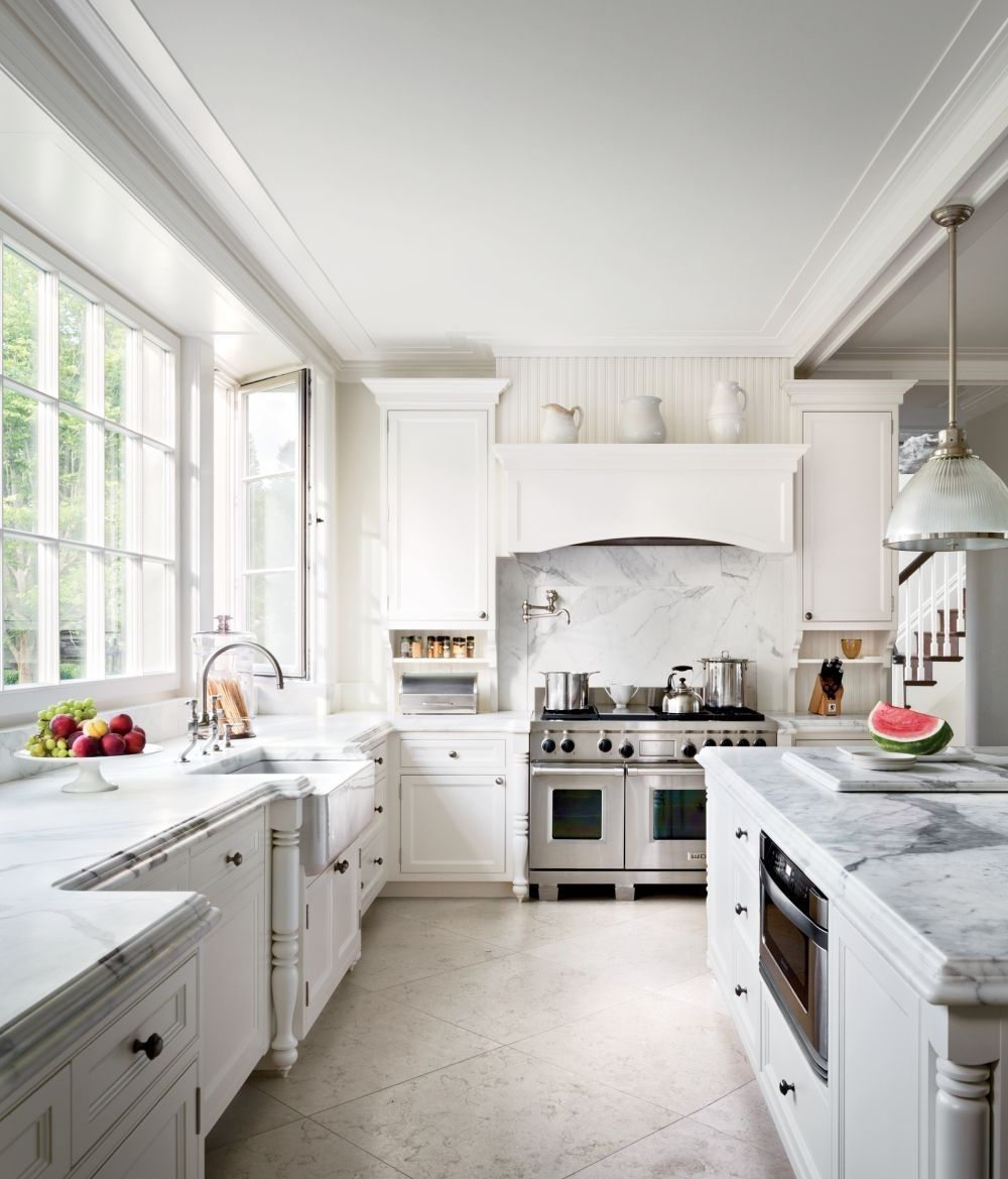 white kitchen tile floor. Brilliant White Kitchen Stylish Traditional White Glass Island Pendant  Granite Countertop Beige Ceramic Tile Floor Stainless Intended O