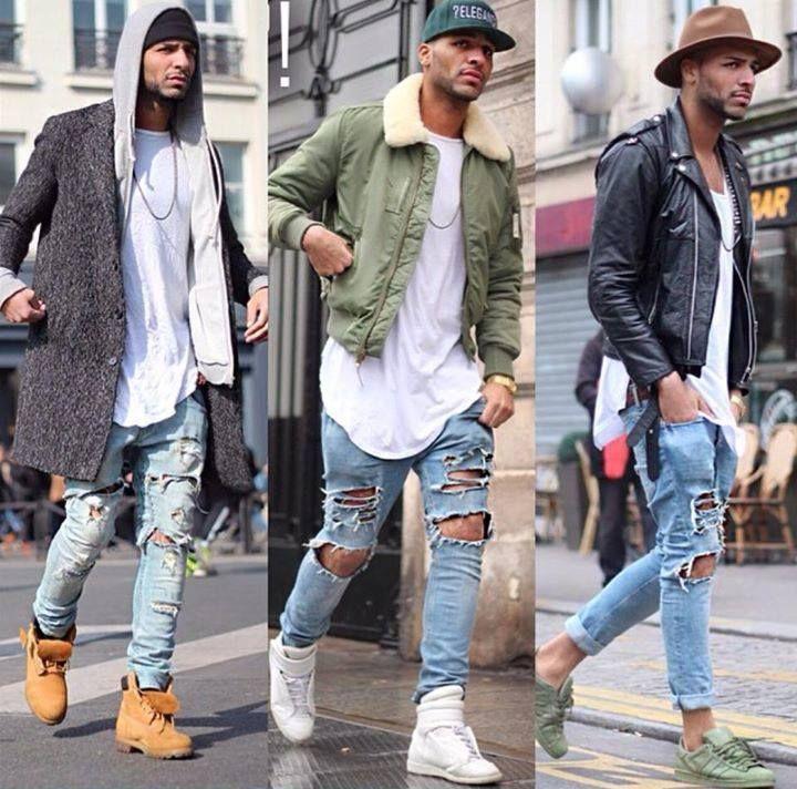 pantalones rotos | Estilos de chicos | Ropa de moda ...