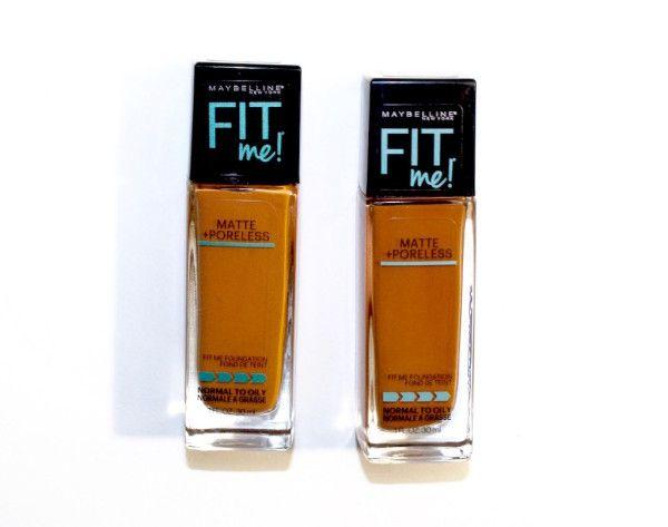 Maybelline Fit Me Matte Poreless Foundation 338 Compared To 355 Lightweight Foundation Maybelline Fit Me Foundation Maybelline