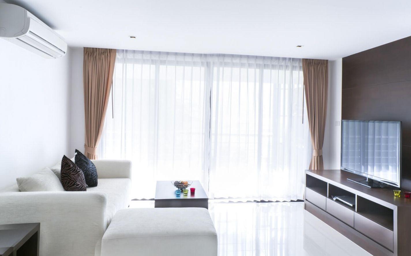 weiße gardinen für wohnzimmer