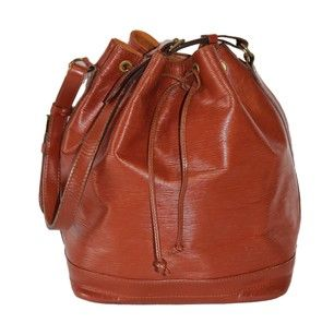 Louis Vuitton Noe Leather Tote in Brown
